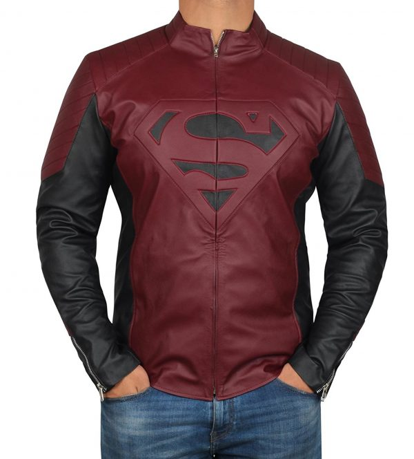 smallville Maroon Black Jacket
