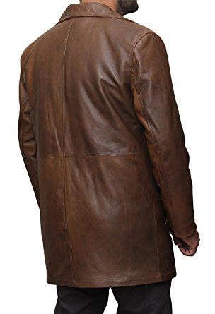 Batman Dawn Of Justice Knightmare Brown Distressed Leather Coat