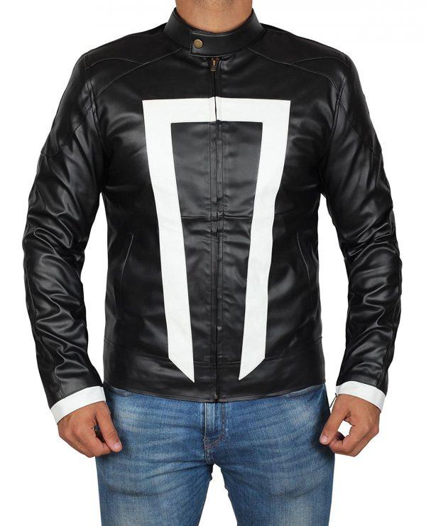 Ghost Rider White Stripe Jacket