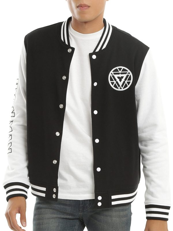 Specifications Material: Varsity Jacket Material: Fleece Collar: Round Collar Sleeve: Full Sleeves Closure: Button Closure Pockets: Front Pockets And Inside Pocket Color: Black & White