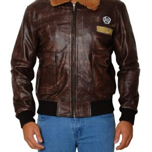 JUMANJI 2 NICK JONAS LEATHER JACKET