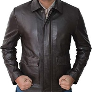 Indiana Jones Jacket Raiders Lost Ark Men Brown Leather Jacket