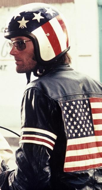 easy rider flag leather jacket