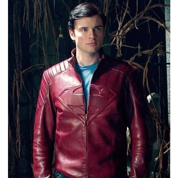 Smallville Red Leather Jacket Tom Welling Jacket Leather
