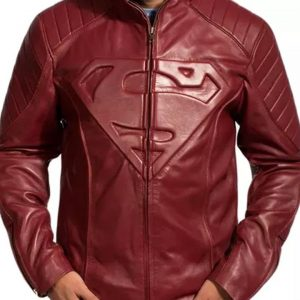 tom welling smallville red leather jacket