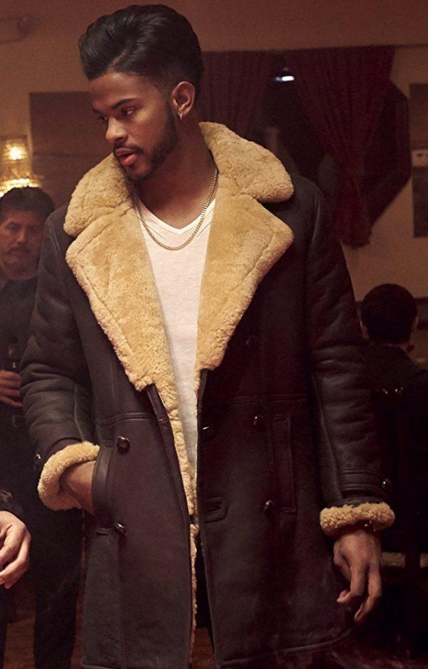 Superfly Trevor Jackson Brown Leather Coat