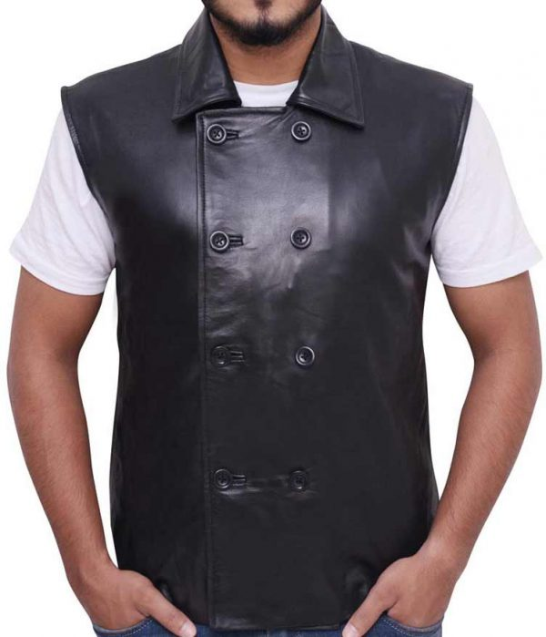 Spider Man Noir Leather Vest