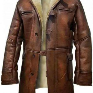 Winter Shearling Leather Coat