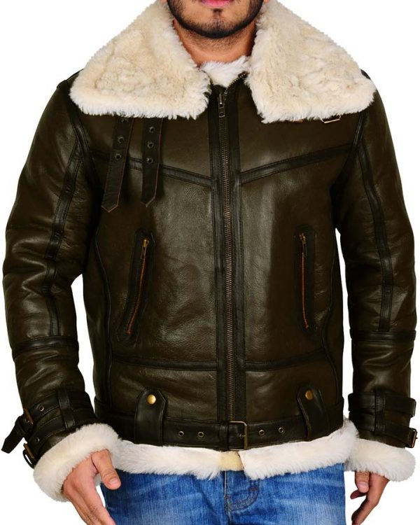 B3 Bomber Shearling Leather Jacket