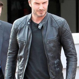 Lambskin Black Leather Jacket David Bekham