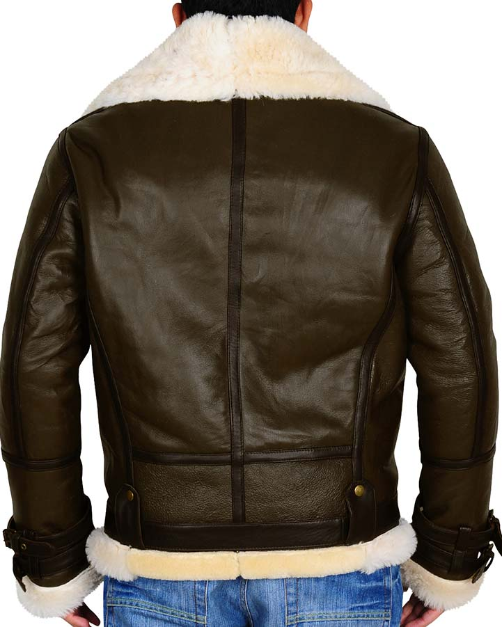 B3 Bomber Shearling Leather Jacket B3 Leather Jacket