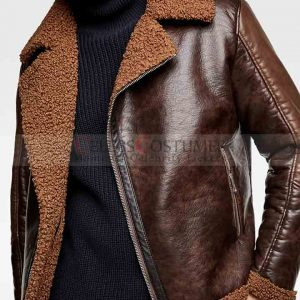 Dean Ambrose Brown Shearling Jacket
