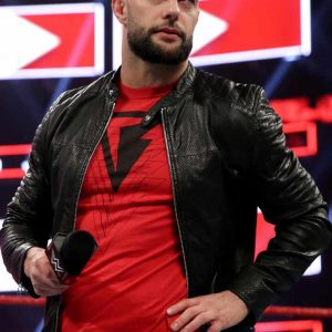 Finn Bálor Black Real Leather Jacket