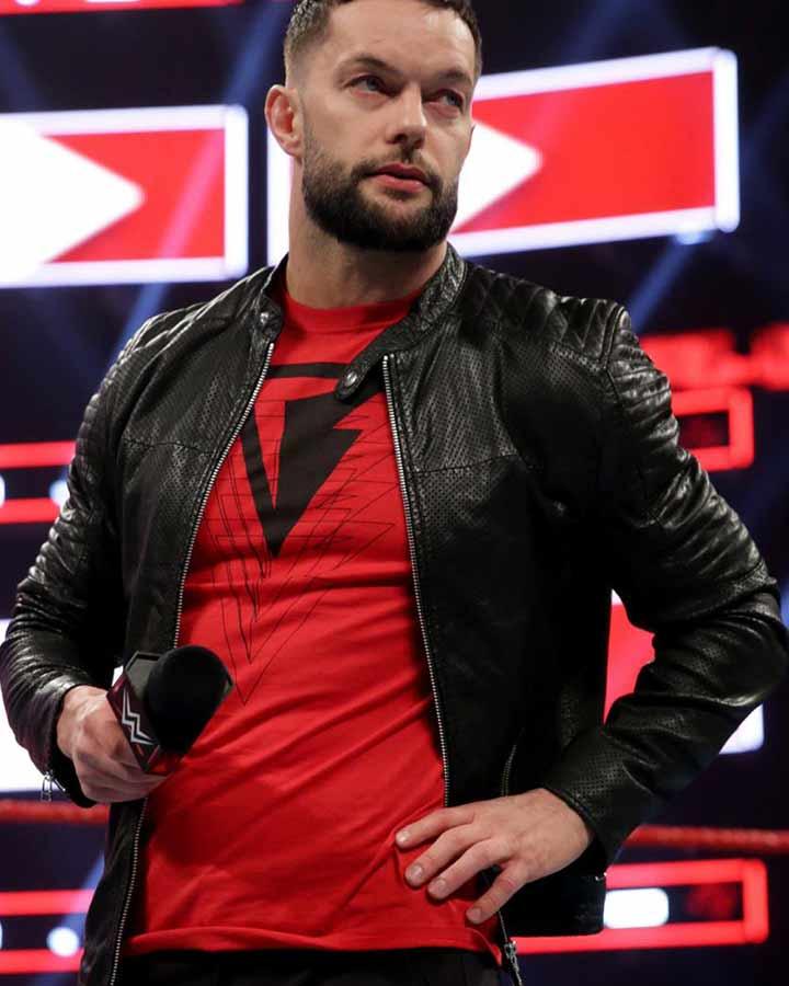 Finn Bálor Black Real Leather Jacket | WWE Finn Balor Jacket | 720 x 900 jpeg 51kB