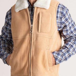 Mens Sheepskin Leather Vest