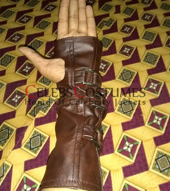 bane leather gauntlet glove