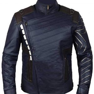 Avengers Infinity War Bucky Barnes Leather Jacket