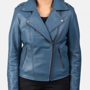 Blueberry Motorcycle Leather Jacket