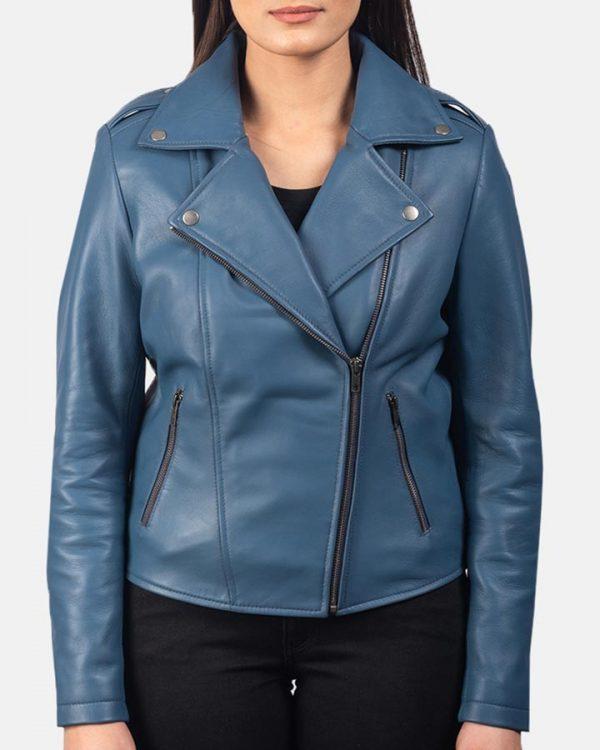 Blueberry Motorcycle Leather Jacket