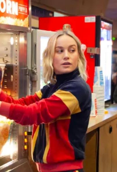Brie Larson Captain Marvel Tracksuit Jacket