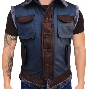 jumanji leather vest