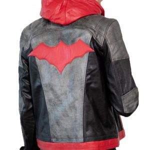 Batman Arkham Red Hood Leather Jacket